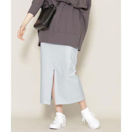 [型番:6691130010]■360度に伸びる高ストレッチ素材■ニットでありながら布帛の生地感を追求した、ストレッチ素材のIラインスカート。フロントには長めのスリットを入れ、女性らしいルックスと足さばきの良さを兼備。カジュアルな印象なので、同シリーズのジャケットとのセットアップコーデもかっちりしすぎず、程よい抜け感を演出します。―DETAIL―・動きやすくストレスフリーなタイトスカート・スタイルアップに貢献するハイウエストデザイン・女性らしいポイントになるフロントスリット・明るくキレイめな印象の淡い色展開・締め付けを感じにくい後ろ両脇のゴム仕様・裏地あり―FABRIC―・布帛ライクなストレッチ素材『WONDER SHAPE』を使用・ナノ・ユニバースオリジナル名称:Nuwonder(ニューワンダー)・ニット素材でありながら布帛の生地感を追求・程よくキレイめなカジュアル過ぎない生地感・糸の開発や加工、編み立ての工夫により、360度に伸びる高ストレッチ性・伸びるだけでなく戻る力も備えた肘、膝抜けしにくい素材・抜群のフィット感と、着圧感が少なくストレスフリーな着心地を両立・染色時に使用する水の約60%は、浄水して循環利用し環境に配慮・手洗いに対応したウォッシャブルmodel: H168cm 着用サイズ: 38◆nano・universe◆【素材】(表地)コットン38% ナイロン34% ポリウレタン28% (裏地)ポリエステル100%【原産国】中国製