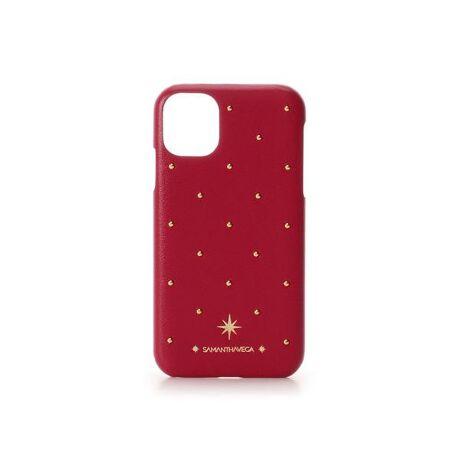 [型番:00072020205191]◇SAMANTHAVEGA(サマンサベガ)のゴールドスタッズiPhoneケース 11ゴールドのスタッズがポイントのiPhoneケース。八方星がデザインされたオシャレなデザインです。