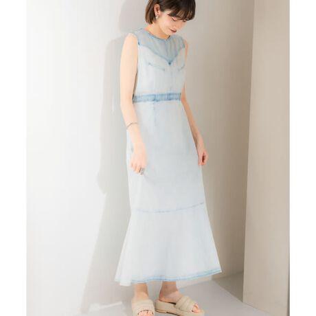 [型番:KB14-26D100]【他には無いデザインが嬉しい主役級ワンピース】ウエスタンヨークのデザインが目を惹くデニムワンピース。ボディフィットしたサイズ感や、裾のマーメイドシルエットが女性らしさを引き立ててくれます。他にはない仕上がりがKBFらしく、夏まで着られるのも嬉しいポイント。同素材のウエスタンヨークデニムトップス(KB14-23D100)も展開しております。POINT・ウエスタンヨークを取り入れたこだわりデザイン・女性らしいフィット&フレアシルエット・ロングスパンで活躍する素材感COORDINATE夏には一枚で、肌寒い季節はジャケットやブーツなどのマニッシュアイテムと組み合わせるのがオススメ。同素材のウエスタンヨークデニムトップスとのデニムonデニムコーデもトレンド感があって◎-----------------------------透け感 : なし伸縮性 : なし裏地 : なし光沢 : なしポケット : あり-----------------------------※この商品(HI BLEACH)は、二次元加工品のため1着ごとに仕上がりが異なり、同じ仕上がりがないのが特徴です。通常の生地よりも色ムラやアタリ感、シワ・スジなどが見られますが、自然な風合いを予めご了承ください。※この商品は、色の特性上、直射日光や蛍光灯に長時間あてますと変色する恐れがございます。ご着用や保管の際は、充分ご注意ください。※この商品は染料の特性上、着用中の摩擦や汗などにより他の衣類や下着、淡い色のベルトやカバン、ソファー等に色移りすることがあるので、お取り扱いにはご注意ください。※その他お取り扱いに関しましては、商品に付属のアテンションタグをご覧ください。※商品画像は、光の当たり具合やパソコンなどの閲覧環境により、実際の色味と異なって見える場合がございます。予めご了承ください。※商品の色味の目安は、商品単体の画像をご参照ください。※比較対照価格はメーカー希望小売価格です。