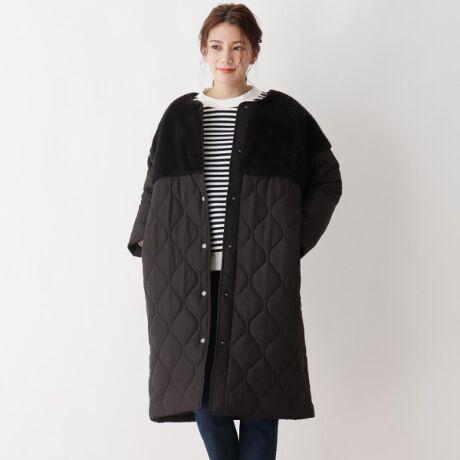 [型番:C6299012]【デザイン】雰囲気たっぷりのキルティングに風合いのいいボアをプラスしたジャケット。絶妙な異素材バランスが可愛くお洒落見えするのがポイントです。オーバーサイズが今年らしさをプラスしてくれます。【生地感】中綿で暖かな着心地です。寒い冬にぴったりのアウターです。【サイズ】大きいサイズ(LL以上)展開あり。※05(3L)サイズはWEB限定サイズです。重量:02(M)約670g※比較対照価格はメーカー希望小売価格です。