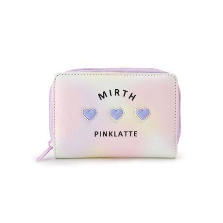 [型番:32012113]【デザイン】ぷっくりとしたハートモチーフを3つ並べたキュートな財布。ピンラテらしいパステルカラーとのコンビネーションで、ガーリームード満点の仕上がりに☆・札入れ×2 ・小銭入れ×1 ・カード入れ×8