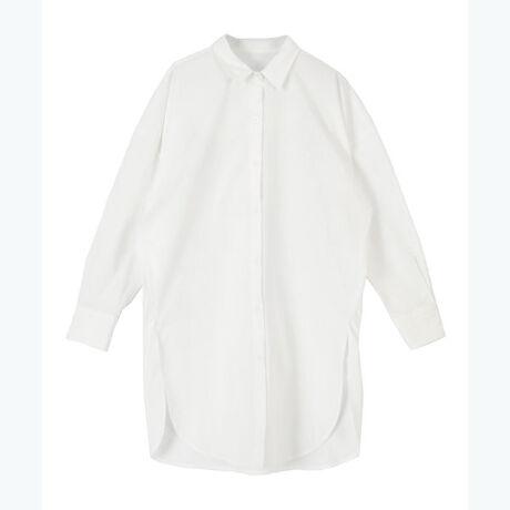 ◆POINT・ゆったりとしたオーバーサイズが細身のパンツとの相性も抜群なチュニックシャツ。・シンプルながらもさっと羽織るだけでおしゃれ感が出る万能な一枚。・さらっとした素材感でハリがあり、清潔な印象を与える爽やかなカラーバリエーションも魅力です。[型番:BXXU0871]