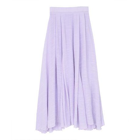 ◆POINT・柔らかく軽やかな風合いの素材が涼しげで、シーズンムード満点のマキシスカート。・ボリュームのある生地感で、風にのってふわりと広がるフレアシルエットが女性らしい一枚。・裏地付き+バックウエストゴムデザインで穿き心地にもこだわったアイテムです。・通常のSサイズでは着丈が長いという方向けのS(ショート)サイズもご用意しました。※総丈について:計測位置によって長さが異なる場合がございます。[型番:BRXU0412]
