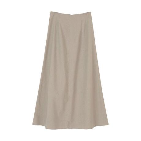 ◆POINT・ハイウエスト仕様がロング丈でもすっきりとした印象を与え、スタイルアップ効果もある麻混セミフレアスカート。・シンプルなデザインですが、シルエットの美しさにこだわった一枚です。・どんなトップスにも合わせやすく、コーディネートの幅が広がるのも嬉しいポイント。・同素材のブラウスと合わせたセットアップ着用もおすすめです。[型番:BVXN0512]