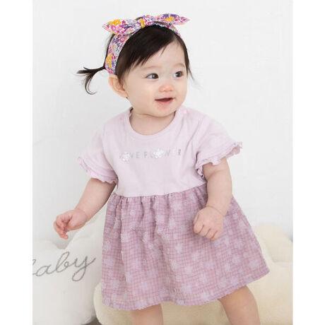 イーベビーのフラワー 花柄 シフォン ワンピース型 ロンパース (70~80cm)。花柄のシフォン生地がワンピースのようにドッキングされた、女の子用ロンパース。花柄のシフォン生地がスカートのようにデザインが、ロンパースなのにワンピースを着ているような見た目に♪袖のフリルもあわさって、女の子らしい可愛さをUPしてくれます。【SLAP SLIP(スラップ スリップ)】~子どもの欲しいをカタチに~ヨーロッパのこどものように子どもらしい今しか着れないナチュラルなかわいさを提案どこか上品で清楚感漂うフレンチカジュアルはいつものコーディネートをさりげなく格上げ[型番:1837-32037]