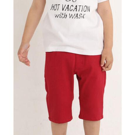ワスクの5.5分丈 ロゴ 刺繍 ツイル パンツ (100~160cm)。夏と言えばカラーパンツ!クロ・アカ・ライムのカラーバリエーションでベーシックカラーを抑えながらも夏カラーを展開したアイテムです。後ろのロゴ刺繍はさりげなくお洒落なポイントを入れています!【WASK(ワスク)】WEE AGED SAUCY KID「我々は小生意気な子供である・・・」自由で遊び心満載な男の子へ現代のメンズカジュアルに欠かせないストリート・ミリタリーなどの要素をキッズウェアーで表現。シャープで大人顔負けのDomestic男児ブランド [型番:1350-33094]