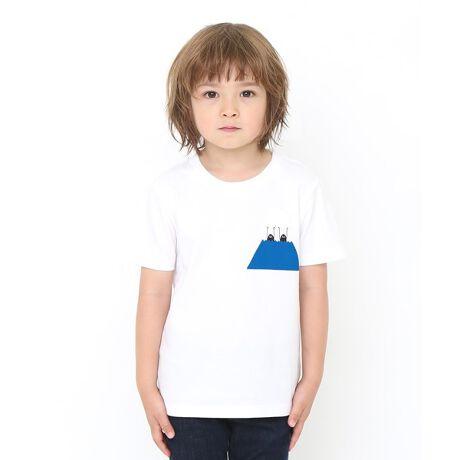グラニフの【キッズ】ベーシックTシャツ/ビューティフル シャドー マウンテン富士山を真っ二つにしてひょっこりと顔を出すBSブラザース。日本のシンボルも彼らの手にかかれば単なる遊び道具。バックプリントでもしっかりとひょっこりしています。「発泡プリント加工」※商品画像と実物では多少色味に違いがある場合がございますので予めご了承下さい。※発売日や販売状況は店舗によって異なります。#おそろいコーデ#親子お揃い[型番:046000827001]