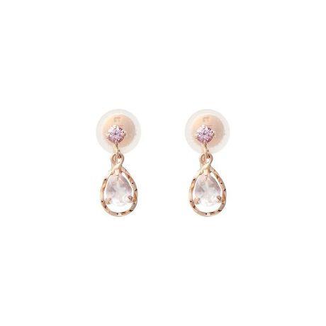 [型番:00092020500101]◇Samantha Tiara(サマンサティアラ)の【9月】誕生石イヤリングK10素材に9月の誕生石サファイヤがセッティングされたイヤリング。揺れるストーンが上品なデザイン。ピンク色のストーンが女性らしさを引き立ててくれる。