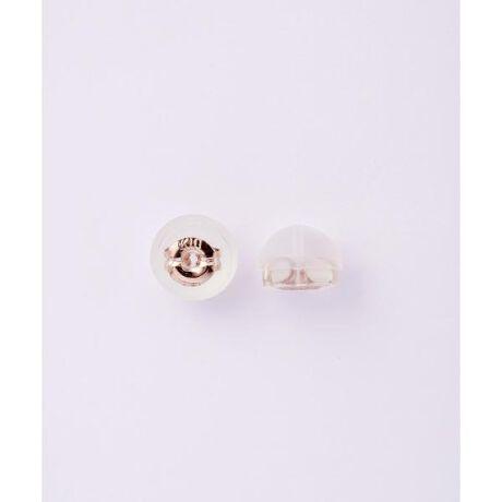 [型番:00090629904314]◇Samantha Tiara(サマンサティアラ)のK10PGピアスパーツ入りシリコンキャッチK10PGの地金のまわりをシリコンで包んだピアスキャッチ。シリコンで覆われているので耳あたりが良く、安心の着け心地。Samantha TiaraとSAMANTHA SILVAの商品でお使いいただけるキャッチでございます。