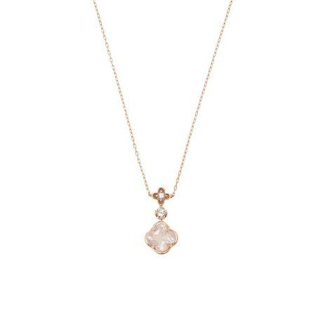 [型番:00092110401902]◇Samantha Tiara(サマンサティアラ)のフルーレットネックレス小さなピンクの小花が咲いているような可愛らしいデザイン。お花の形にカットされたローズクォーツがやさしいピンク色のオーラで包みこみ、内面から輝かせてくれるジュエリー。
