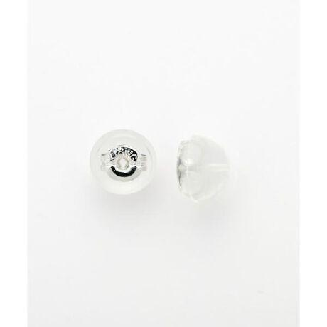 [型番:00090629904310]◇Samantha Tiara(サマンサティアラ)のK18WGピアスパーツ入りシリコンキャッチK18WGの地金のまわりをシリコンで包んだピアスキャッチ。シリコンで覆われているので耳あたりが良く、安心の着け心地。Samantha TiaraとSAMANTHA SILVAの商品でお使いいただけるキャッチでございます。