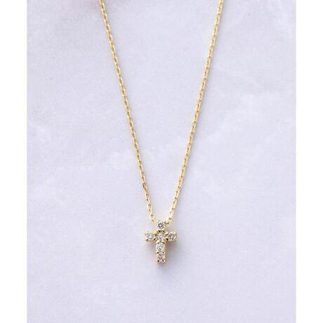 [型番:00092120403805]◇Samantha Tiara(サマンサティアラ)の【WEB限定】K10ダイヤモンドネックレス クロス 幸運をもたらすラッキーモチーフが煌めくダイヤモンドジュエリー。身に着ける人に神秘の力を与え、災いから身を守ってくれるとされるクロスモチーフにダイヤモンドが輝くデザインは、ギフトにも自分用にもぴったりの毎日着けたいジュエリーです。身に着けるだけで幸せな気持ちになれるラッキーモチーフが、あなたをそっと後押ししてくれる味方になってくれるはず。【スペシャルジュエリーボックス付き】手のひらサイズなので、サプライズプレゼントにもぴったりです! モダンシックな色合いに染められた手触りの良いベロア生地を使用し、そっと蓋を開けると…  ボックスの内面に箔押しで「Que tous tes désirs se réalisent」(たくさんの幸せが訪れますように)のメッセージが施されています。全4色(ダークグレー・グリーン・ブラウン・ピンク)※こちらの商品のボックスの色は、グリーンとなります。※購入の際、ボックスの色はお選びになれませんのでご注意ください。