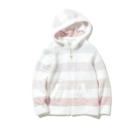 """[型番:PKNT211400]<b>【ママとのおそろいが楽しめるハッピーボーダーパーカ】</b> <b>【Fabric】</b>ふんわりと軽く柔らかなベビモコ素材を使用しました。春を感じるピンクとブルーの2色展開です。 <b>BABY MOCO(ベビモコ)</b>…「子供たちにもgelato piqueの洋服を届けたい」という想いから生まれた、羽毛のように軽くふんわりとした""""ベビモコ""""。生え立てのようにライトな短毛で、ふっくらとしたボリュームと繊細な質感を表現した、夢のようなタッチのMOCO MOCOです。<b>【Design/Styling】</b>空気を纏うように柔らかいタッチが魅力のベビモコ素材と優しいパステルカラーで、一足早く春の訪れを感じられるハッピーボーダーシリーズ。ギフト人気も高い定番パーカは、ママとのおそろいが楽しめる親子連動アイテム。様々な色をミックスした鮮やかなカラーリングが愛らしく、まだ寒い季節から春、秋まで、シーズン通して長く愛用いただけます。おそろいのボトムスはロングパンツをご用意しました。※商品画像はサンプルのため、色味やサイズ等の仕様に変更がある場合がございますので、予めご了承ください。※照明の関係により、実際よりも色味が違って見える場合があります。またパソコン・スマートフォンなどの環境により、若干製品と画像のカラーが異なる場合もございます。予めご了承ください。商品の色味は、商品単品画像をご参照下さい。"""
