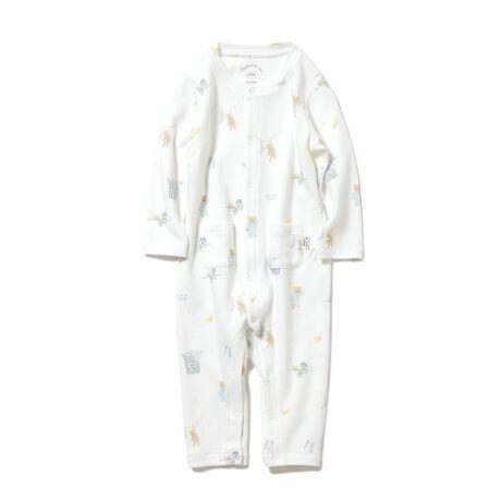 [型番:PBCO211462]<b>【テディベアのキュートな朝を描いたモーニングベアロンパース】</b> <b>【Design/Styling】</b>パジャマを着たテディベアと朝ごはんのバナナ、お洗濯や歯みがきなど、テディベアが過ごす爽やかな朝を描いたロンパース。着脱が簡単なスナップボタン仕様なので、お着替えやおむつ変えをスピーディに行うことができます。フロントに並べた小さなポケットで、愛らしいアクセントをプラスしました。おそろいでママ・キッズラインも展開しているので、親子リンクコーディネートもお楽しみいただけます。<b>【Fabric】</b>空気を含んだように柔らかなカットソー素材を使用しました。オフホワイトとピンクの2色展開です。※商品画像はサンプルのため、色味やサイズ等の仕様に変更がある場合がございますので、予めご了承ください。※照明の関係により、実際よりも色味が違って見える場合があります。またパソコン・スマートフォンなどの環境により、若干製品と画像のカラーが異なる場合もございます。予めご了承ください。商品の色味は、商品単品画像をご参照下さい。