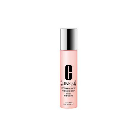 """[型番:B1830017]""""渇きに水分チャージ""""のモイスチャー サージ シリーズから、新・保湿化粧水が誕生。「クリニーク」は、乾燥の原因となる肌バリア機能の低下に着目。ほんのりとろみのある保湿化粧水が、潤いのバリアで肌をやさしく包み込み、しっとり、たっぷり潤いを届けます。成分に含まれる乳酸菌(*)が、潤して、あなたの肌に潤いのバリアを与えてくれます。(*)乳酸桿菌発酵液<保湿化粧水/100ml、200ml/全2種>"""