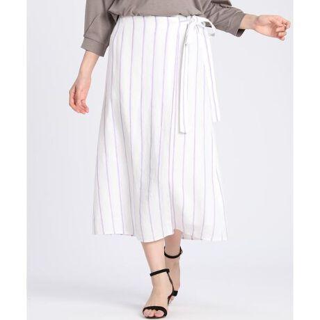 [型番:7002152041]【シティリビング5月号掲載】裾に向かって広がるフレアシルエットが、カジュアルな中にも女性らしさを引き立てるラップ風スカート。ウエストはゴム仕様なので穿き心地も快適です。春から夏にかけてシーズンライクな着こなしにぴったりの1枚。・裏地あり・後ろファスナーあり・ウエスト後ろゴム仕様・水洗い可《MONTI/モンティ》イタリア生地メーカー MONTI。イタリアメーカーならではのカラーの表現感と、リネンのハリがありながらもソフトな風合いに仕上げたラグジュアリー感が自慢です。■サンプル撮影商品■こちらの商品はサンプルでの撮影となっております。実際の商品とは、商品情報(生産国、色味、上代、納期など)が変更になる場合がございます。予めご了承ください。