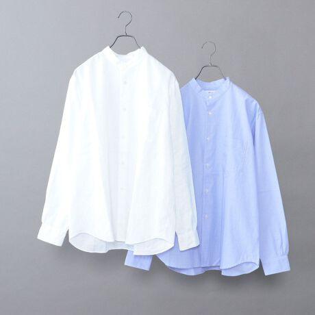 シップス エニィの【WEB限定】SHIPS any: 2枚パック バンドカラー シャツ 2021 SPRING◇。<WEB限定販売の2パックバンドカラーシャツ>【素材特性】リネン素材とコットン素材の2枚を1組にした大変お得なパックシャツ。夏に適した肌離れの良いリネンシャツと通年使える万能なコットンシャツとなっています!【デザイン】無地×ストライプ、無地×チェック、無地×無地など豊富なバリエーションにてセット販売。春夏らしいカラー展開で、どれも爽やかな印象で着用していただけるアイテムとなっています。サイズ感もトレンドを意識し、リラックスフィットでの展開となっています。程よくゆとりがあるので、着心地良く大変オススメです!【スタイリング】Tシャツ合わせはもちろん、バンドカラーの特徴を活かし、ジャケットなどのインナーとしても活躍します!シーンや気温に合わせて長くお使いいただける大変オススメのバンドカラーシャツとなっています!----------------------------裏地:無し光沢感:無し生地の厚み:普通伸縮性:無し透け感:無し(ホワイト以外)水洗い:OK----------------------------カラー展開詳細ホワイト1:ホワイト(リネン)×ストライプ(コットン)ホワイト2:ホワイト(リネン)×ブルー(コットン)ホワイト3:ホワイト(リネン)×ネイビー(コットン)ホワイト4:ホワイト(リネン)×チェック(コットン)ベージュ:ベージュ(リネン)×ダークブルー(コットン)カーキ:カーキ(リネン)×チェック(コットン)ライトグリーン:ライトグリーン(リネン)×ストライプ(コットン)ライトブルー:ライトブルー(リネン)×ホワイト(コットン)   model::H175 B83 W66 H87 着用サイズ: MEDIUM※カラー名「ベージュ」:ベージュ×ダークブルー(コットン)のダークブルーのみステッチが詳細画像のように同色ステッ[型番:711970003]