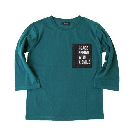 [型番:3711219]綿100%のオーソドックスな天竺素材を使用した7分袖Tシャツです。抗菌・防臭加工により繊維上にある細菌の増殖を抑えることで、においの発生を軽減します。肩を落としてラフに着られるゆったりめのサイジングで、旬なコーディネートを作り出してくれます。異素材の胸ポケットにプリントをオンしたデザインで、1枚で着てもインパクト抜群なビジュアルに仕上がっています♪春らしいビビットなカラーもオススメ!【ロゴ】PEACE BEGINS WITH A SMILE (幸せは笑顔から始まる)【伸縮性】あり■GLAZOSのお洋服は格好良いシルエットを目指し、一般的なお洋服より少し細身の作りにしております。実寸サイズをご確認の上、サイズをお選び下さいませ。【モデル】身長143cm、体重32kg、着用サイズ:150cm