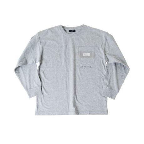 [型番:3711263]綿100%のオーソドックスな天竺素材を使用した長袖Tシャツの登場です。肩を落としてラフに着られるゆったりめのサイジングで、旬なコーディネートを作り出してくれます。ベーシックなカラー展開で、使いやすく様々なシーンで重宝します◎ポケットデザインが子供っぽくなりすぎずクールな大人な雰囲気を演出してくれます。一枚で着るのはもちろん、アウターのインナーとしても使い勝手の良いデザインです。【伸縮性】あり【モデル】身長149cm、体重35kg、着用サイズ:150cm