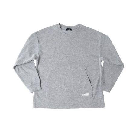 [型番:3711290]凹凸感のある柔らかいフライス素材を使用した長袖Tシャツの登場です。肩を落としてラフに着られるゆったりめのサイジングで、旬なコーディネートを作り出してくれます。フロントに配置したカンガルーポケットとピスネームがシンプルにアクセントの効いた一枚★シンプルな作りとなっているので、幅広いコーディネートを楽しむことができるのでオススメ♪ボトムに悩まず着回せるベーシックカラーと、今季注目のイエローでの登場です!【伸縮性】あり【ご注意点】■素材の特性上、摩擦によりピリング(毛羽・毛玉)が生じることがあります。ピリングが発生した場合は無理に引っ張らず、エチケットブラシや毛玉り器などで取り除いてください。【モデル】身長149cm、体重35kg、着用サイズ:150cm