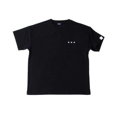 [型番:3711291]凹凸感のある柔らかいフライス素材を使用した半袖Tシャツの登場です。肩を落としてラフに着られるゆったりめのサイジングで、旬なコーディネートを作り出してくれます。シンプルながらも胸のポケットの☆刺繍がアクセントになった1枚!ボトムに悩まず着回せるベーシックカラーの展開です◎【伸縮性】あり【ご注意点】■素材の特性上、摩擦によりピリング(毛羽・毛玉)が生じることがあります。ピリングが発生した場合は無理に引っ張らず、エチケットブラシや毛玉り器などで取り除いてください。【モデル】身長149cm、体重35kg、着用サイズ:150cm