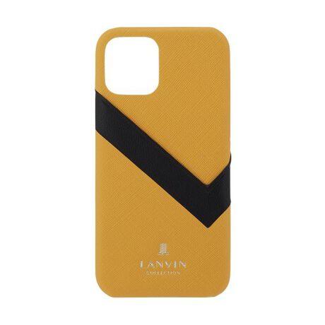 [型番:LVSWIP1220]LANVINの「L」をモチーフにしたカードポケットが特徴の遊び心のあるお洒落なデザインです。大人の魅力を引き出してくる2トーンカラーの背面ケースです。