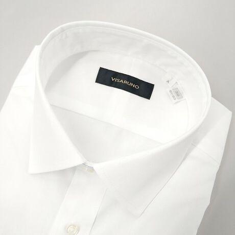 [型番:TADVV801N]ビサルノ(VISARUNO)の(形態安定加工生地)Yシャツ(綿50%・ポリエステル50%素材)【衿型】セミワイド綿のしなやかな着心地とポリエステルの丈夫で長持ちする特性を合わせた生地を使用しています。シワになりにくい形態安定生地使用で、ご家庭洗濯でのお手入れもラクチン。ネットに入れてお洗濯することをおすすめします。ドリップドライ(絞らずに吊り干し)が理想的ですが、脱水される場合は15秒~30秒程度でお願いします。脱水後は、形を整えてハンガーで干してください。