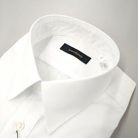 [型番:TAMVR803N]ビサルノ(VISARUNO)の(形態安定加工生地)Yシャツ(綿50%・ポリエステル50%素材)【衿型】レギュラー綿のしなやかな着心地とポリエステルの丈夫で長持ちする特性を合わせた生地を使用しています。シワになりにくい形態安定生地使用で、ご家庭洗濯でのお手入れもラクチン。ネットに入れてお洗濯することをおすすめします。ドリップドライ(絞らずに吊り干し)が理想的ですが、脱水される場合は15秒~30秒程度でお願いします。脱水後は、形を整えてハンガーで干してください。